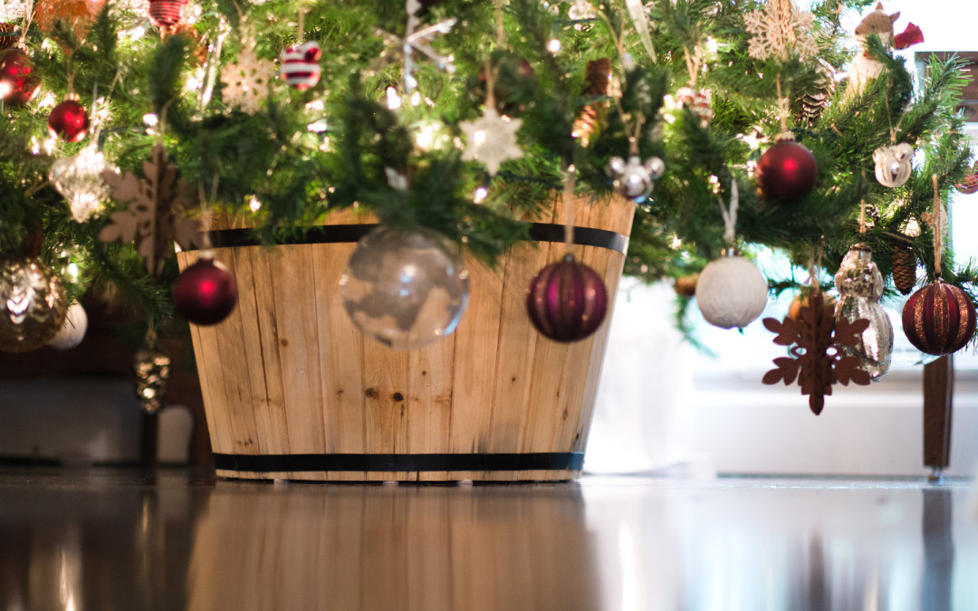 Create a potted christmas tree stand the graceful dwelling