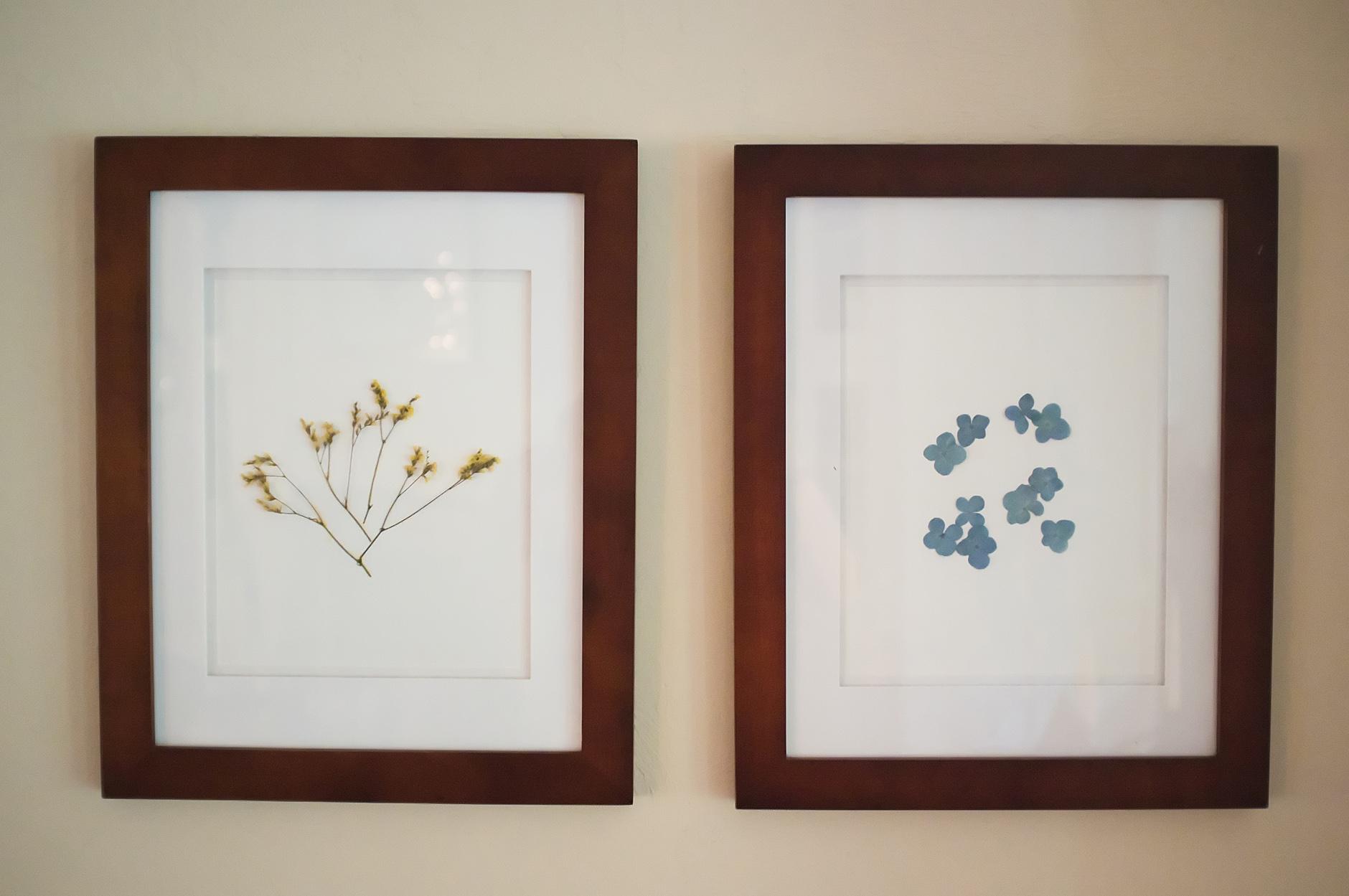 Framed Pressed Flower Art