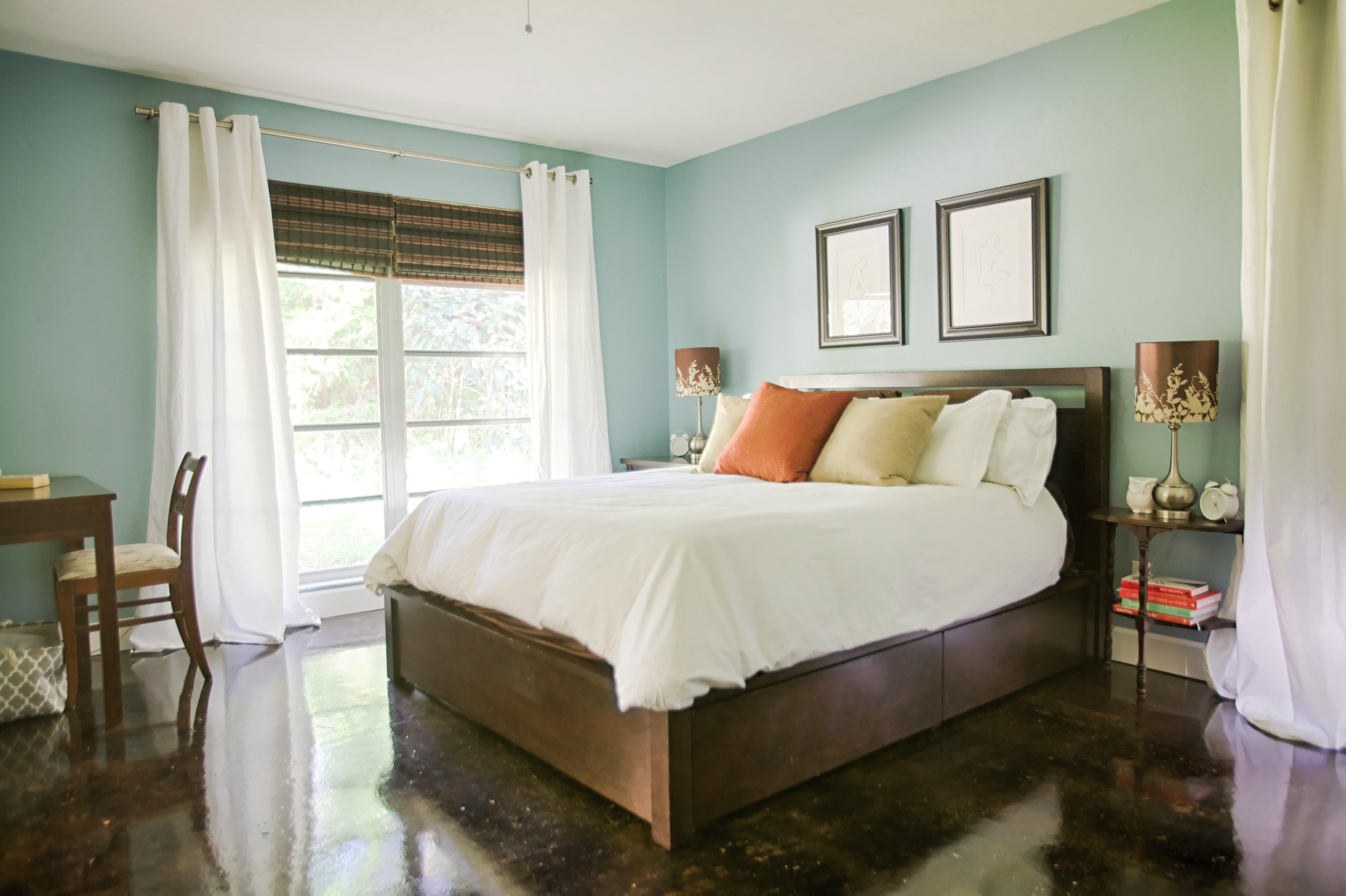 Master Bedroom painted in Benjamin Moore's Buxton Blue