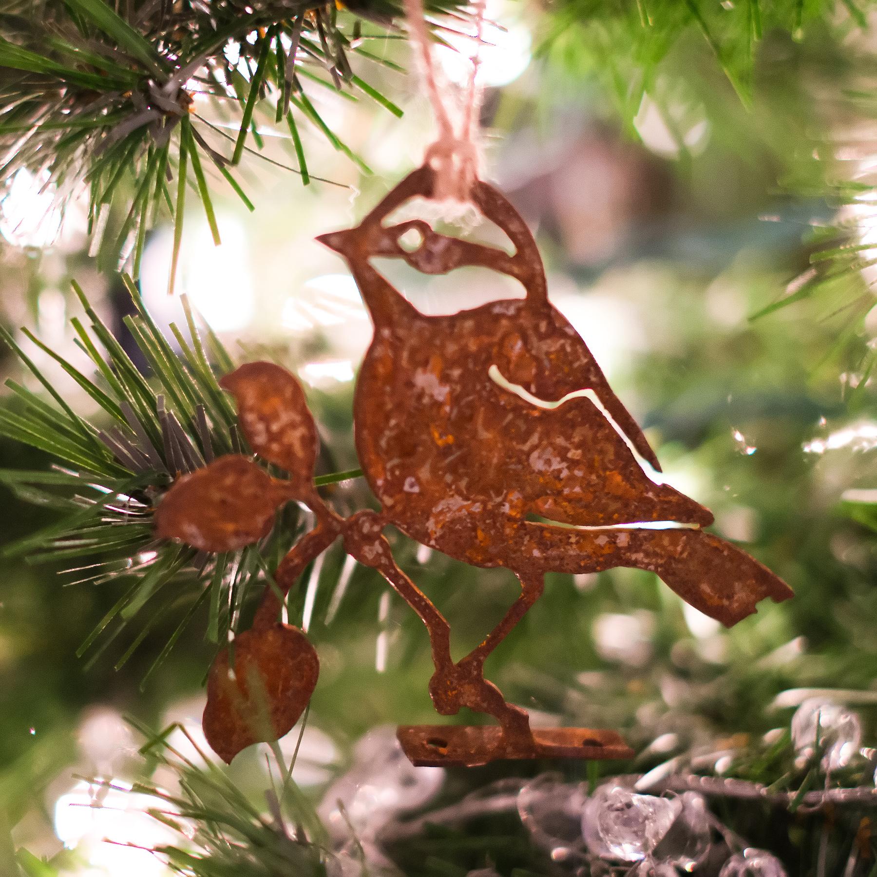 Metal Bird Figurine as Christmas Ornament