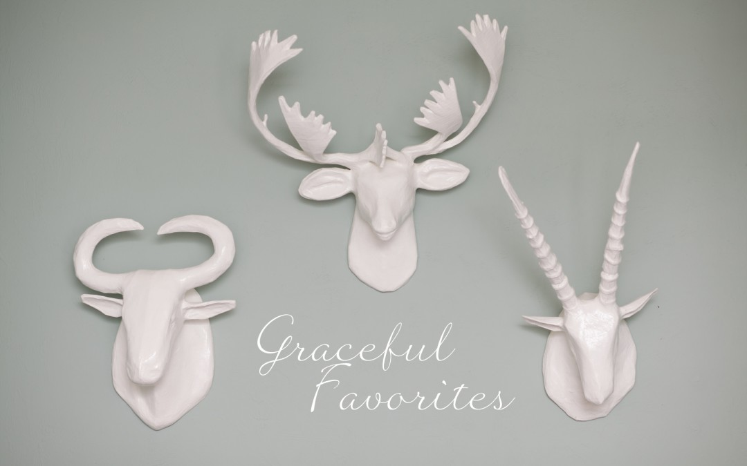 Graceful Favorites 2016 Week 9 – Papier-Mache Animal Heads