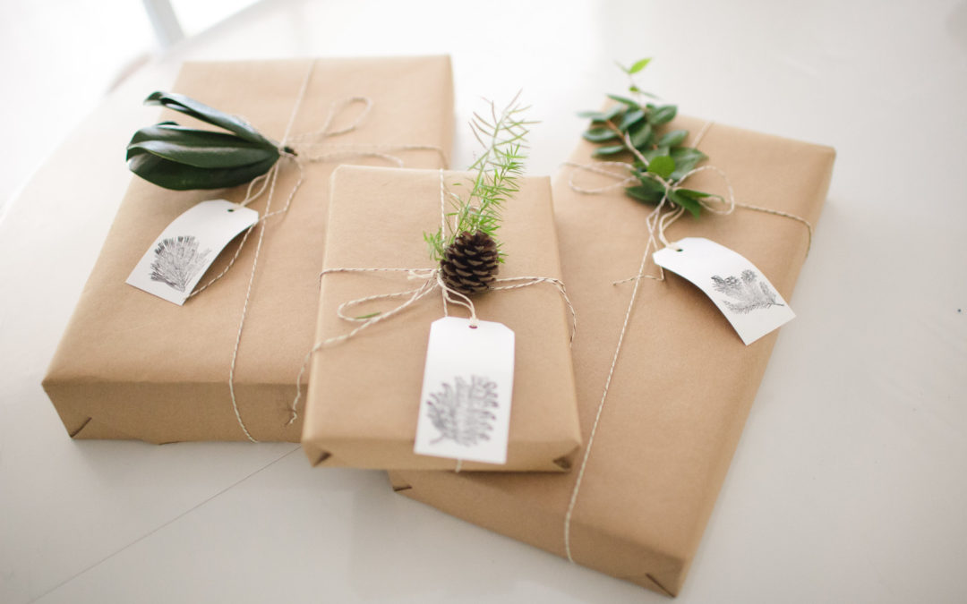 Gift Wrapping with Kraft Paper